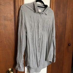 A new day size XL stripe button up blouse